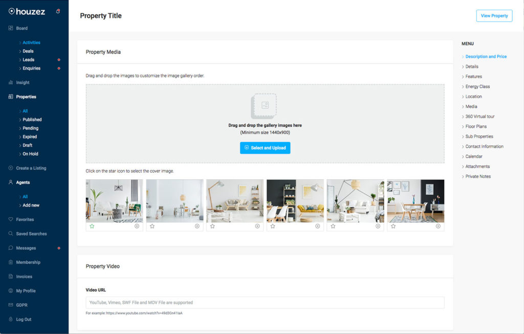 elementor template real estate